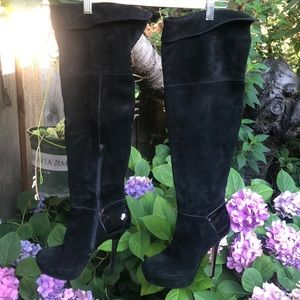 Steve Madden suede over the knee boots EUC!